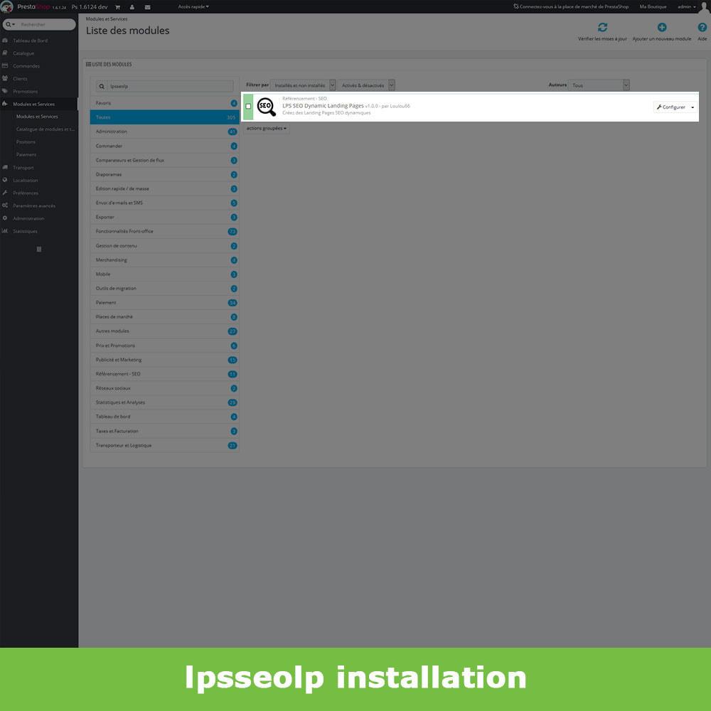 module - SEO - SEO Dynamic Landing Pages - 2