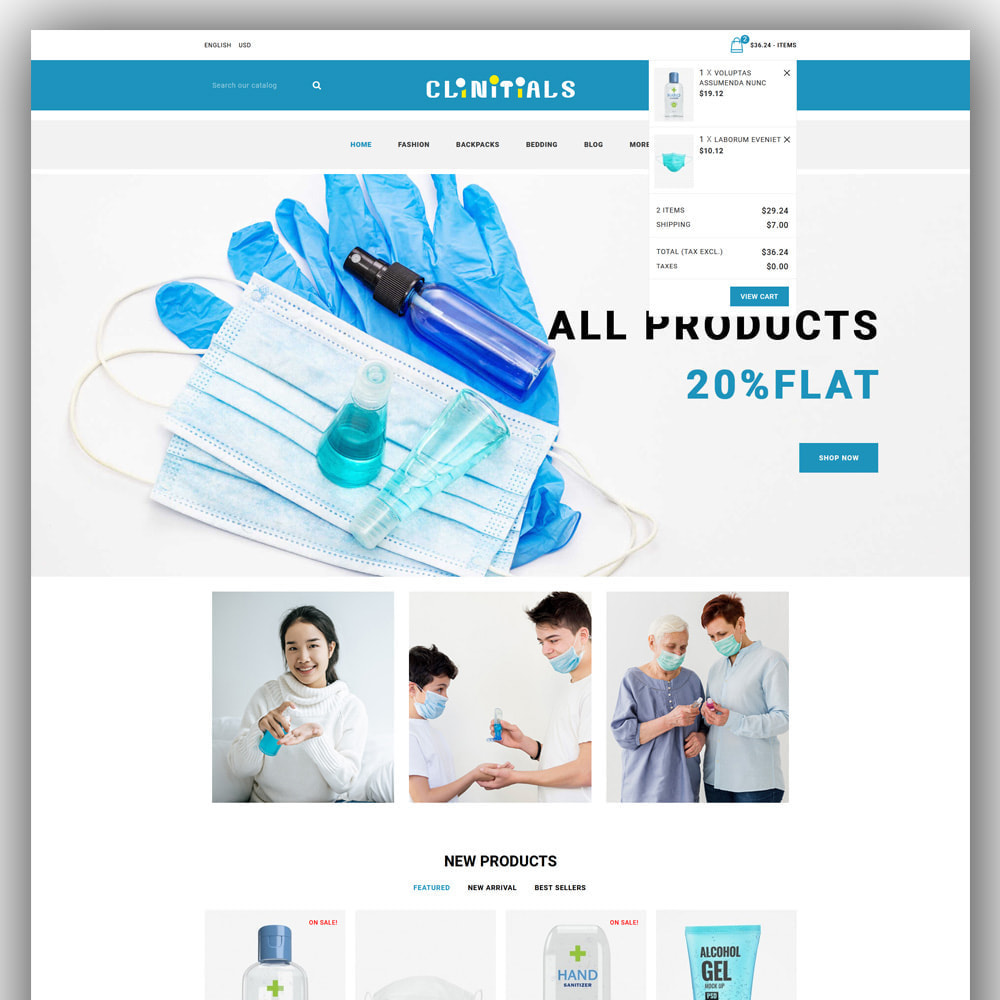 theme - Health & Beauty - clinitials - sanitizer store - 3