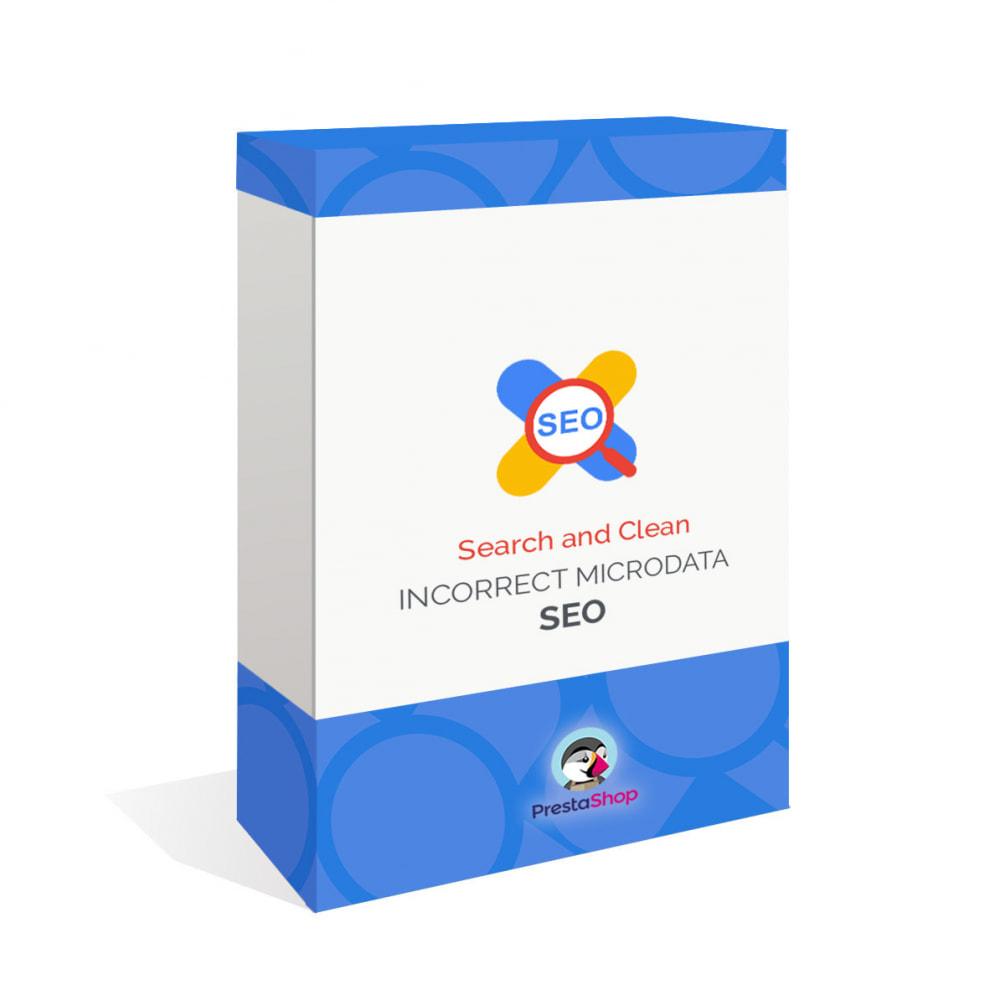module - SEO (Posicionamiento en buscadores) - Busca y Limpia Microdatos Incorrectos - SEO - 1
