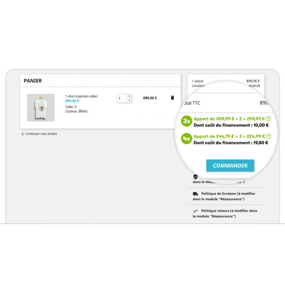 module - Autres moyens de paiement - 3x 4x Oney – Paiement 3 et 4 fois par carte bancaire - 2