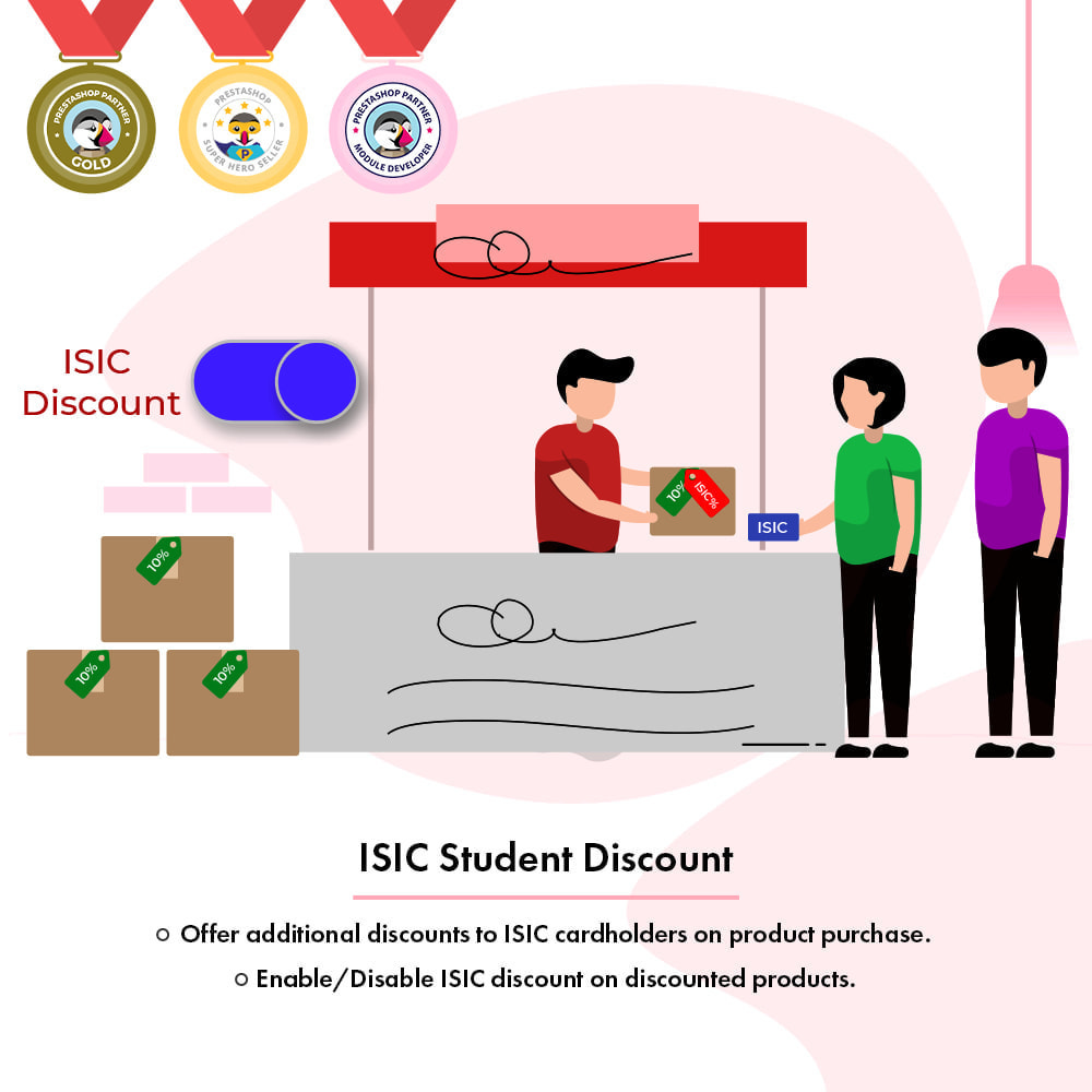 module - Promotions & Gifts - ISIC Student Discount   Discount for ISIC Cardholders - 1