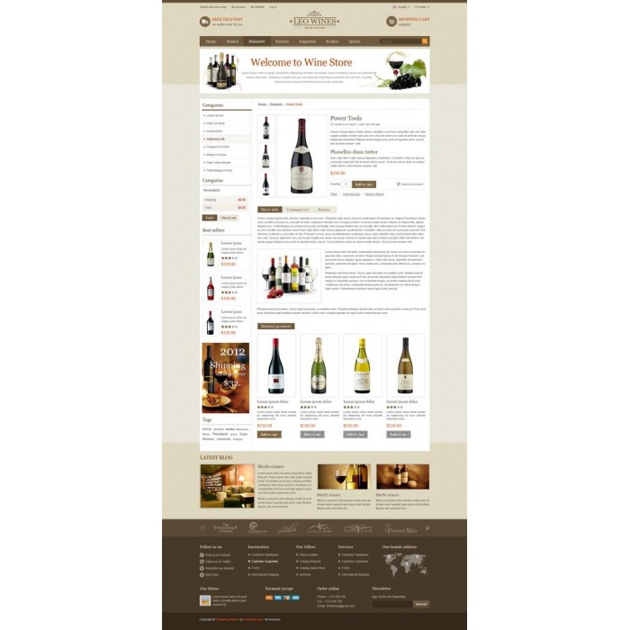 theme - Bebidas y Tabaco - Leo Wines - Alcohol, Restaurant & Drinks Store - 3