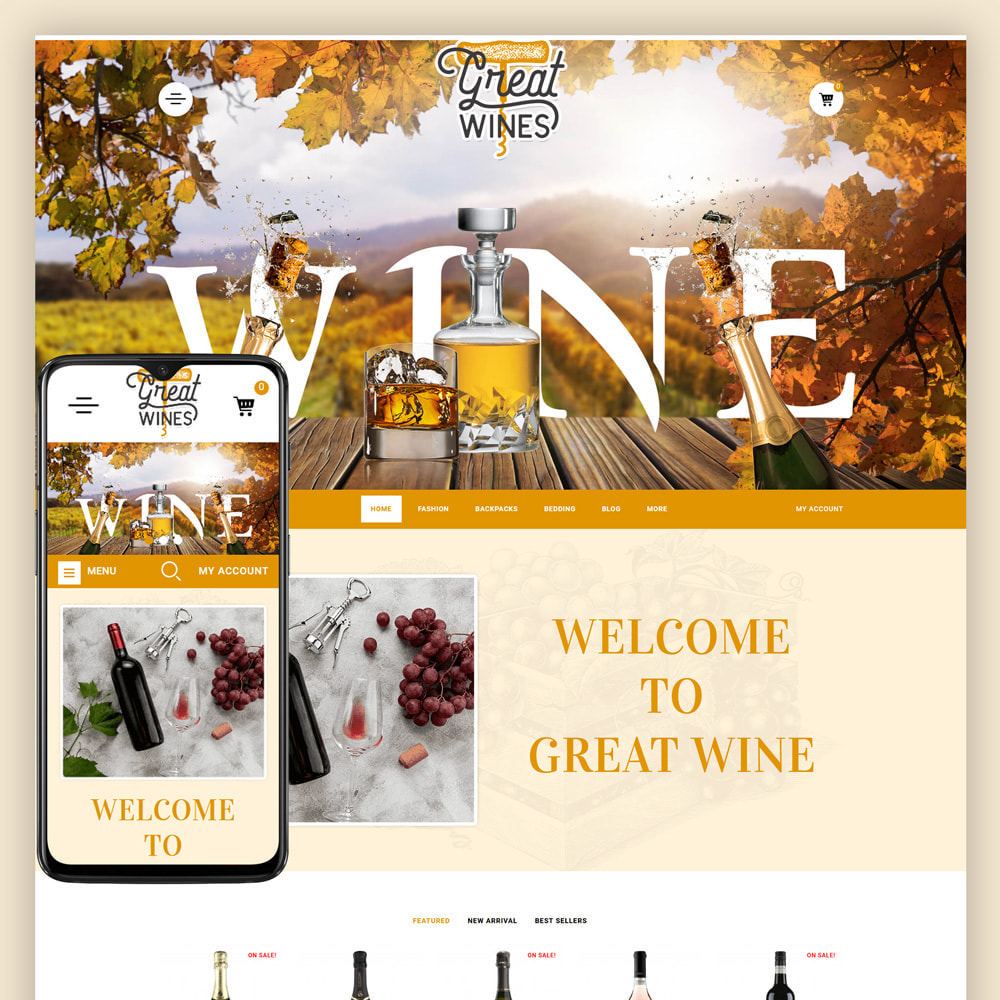 theme - Drink & Tobacco - Greatwine - Wine Store - 1