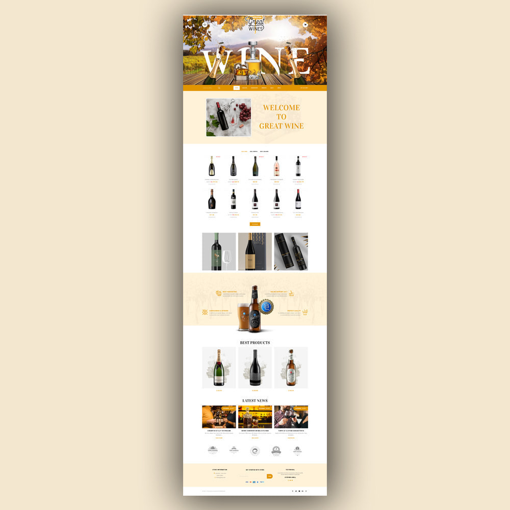 theme - Drink & Tobacco - Greatwine - Wine Store - 2