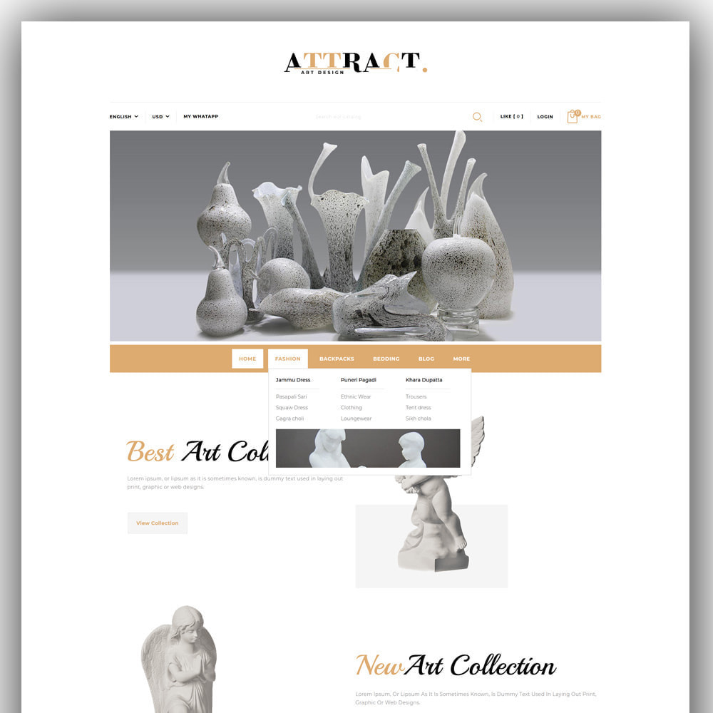 theme - Arte & Cultura - Attract - Art Store - 2
