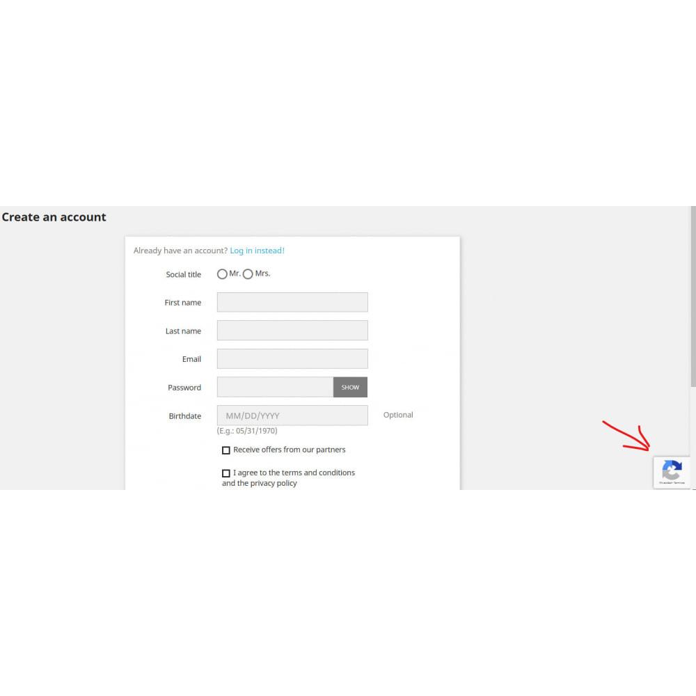 module - Sécurité & Accès - Google Re-Captcha v3 - 2