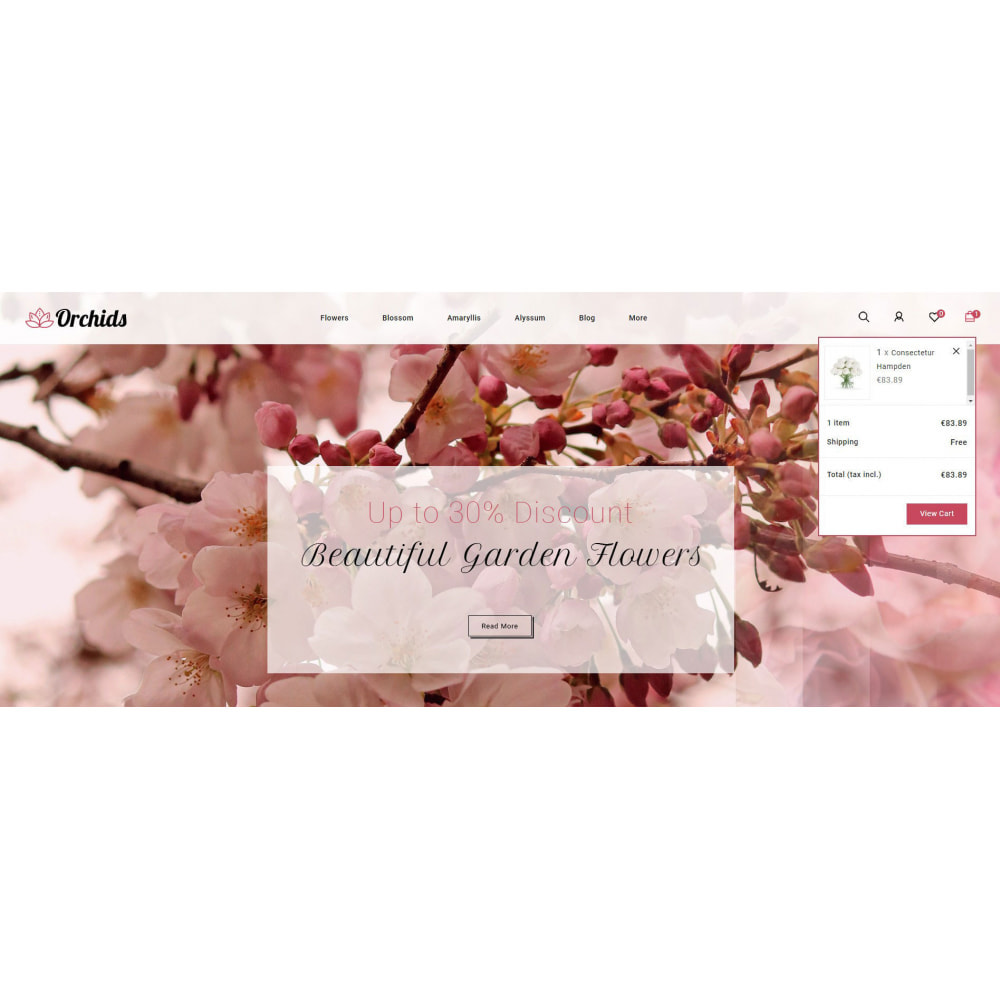 theme - Prezenty, Kwiaty & Uroczystości - Orchid - Flower Market - 8