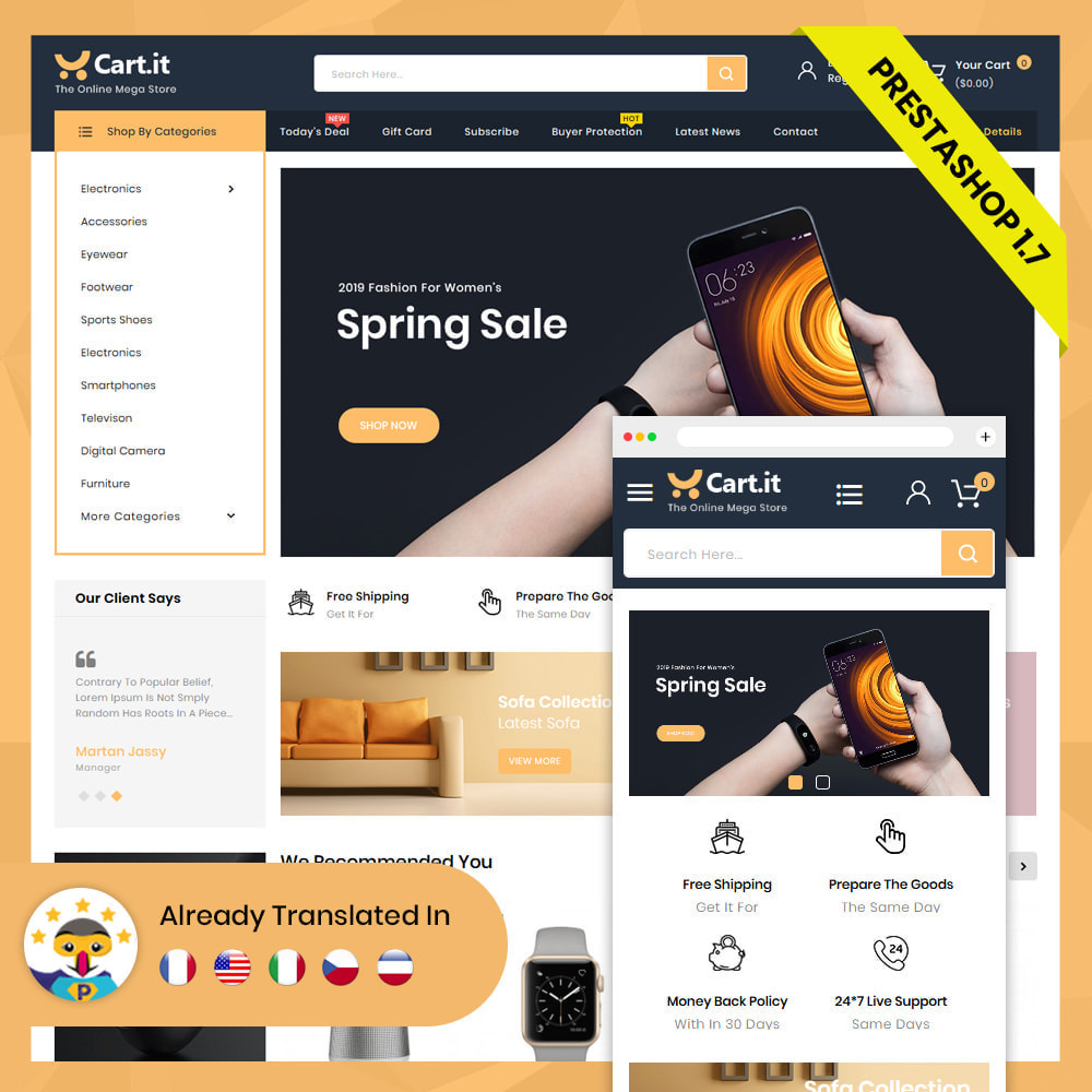 theme - Mode & Schoenen - Cart.It - Online Megashop Store - 2