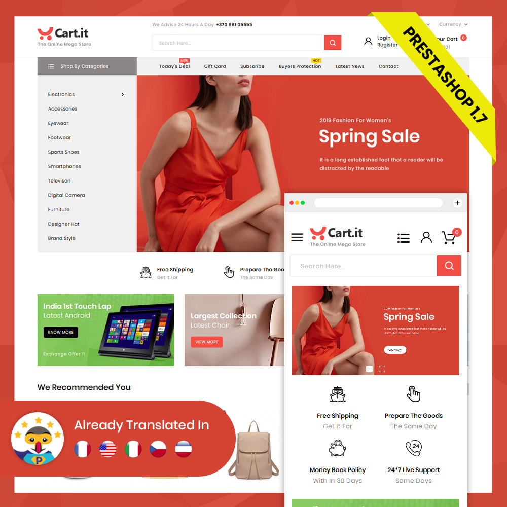 theme - Mode & Schoenen - Cart.It - Online Megashop Store - 3