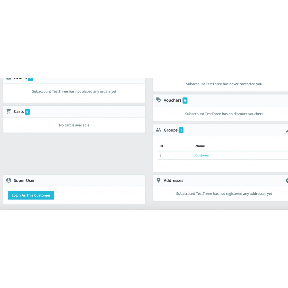 module - Herramientas Administrativas - Super User - Secure and Easy Customer Login - 2