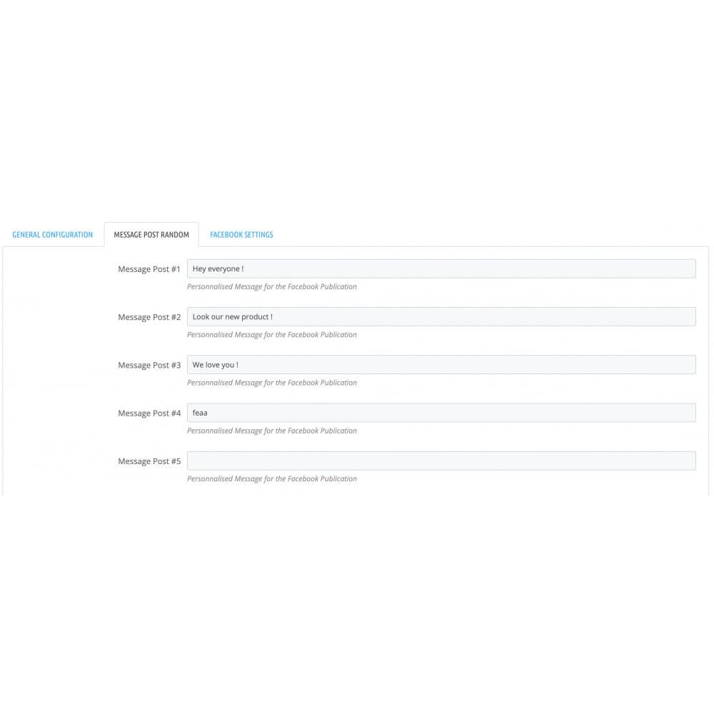module - Produits sur Facebook & réseaux sociaux - Auto-Post Produits sur Page Facebook - 3