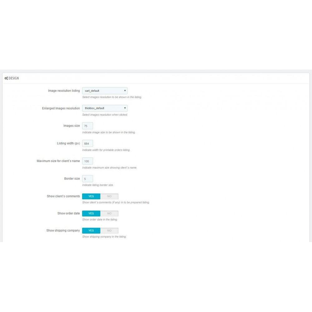 module - Preparación y Envíos - Listado de pedidos pendientes a preparar (Picking list) - 2