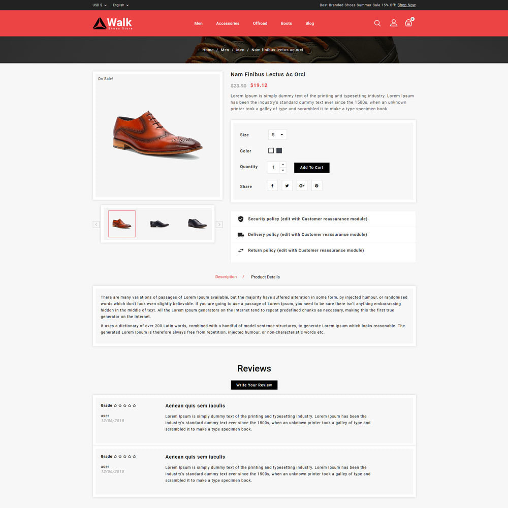 theme - Fashion & Shoes - Walk - Shoes Store - 4