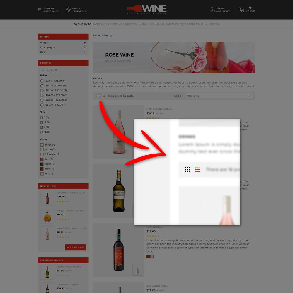 theme - Drink & Tobacco - Winestone - Liquor Shop - 6