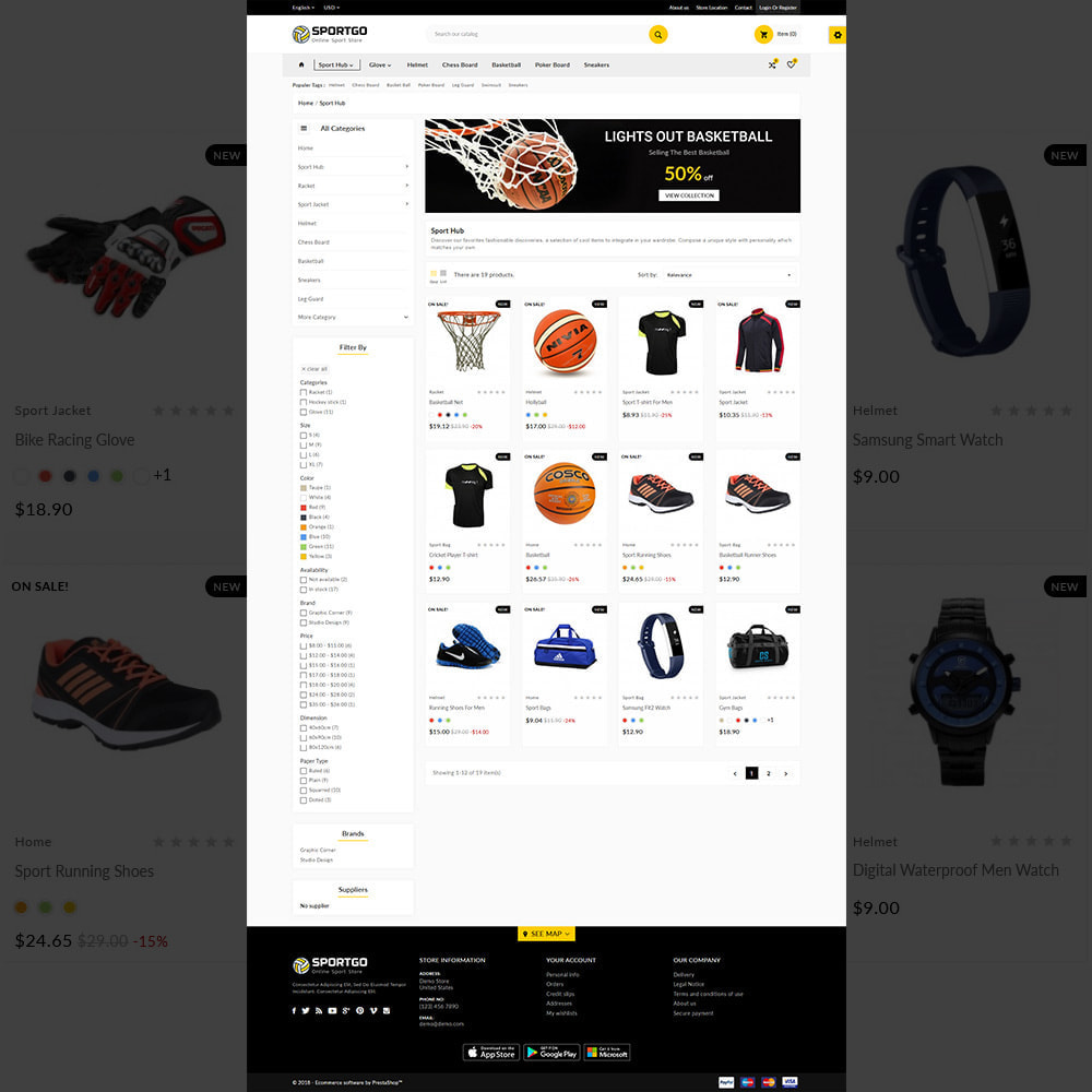 theme - Sports, Activities & Travel - Sports Accessories Shop - 3