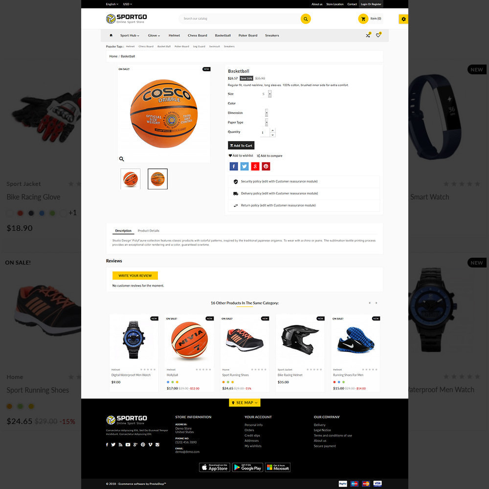 theme - Sports, Activities & Travel - Sports Accessories Shop - 5