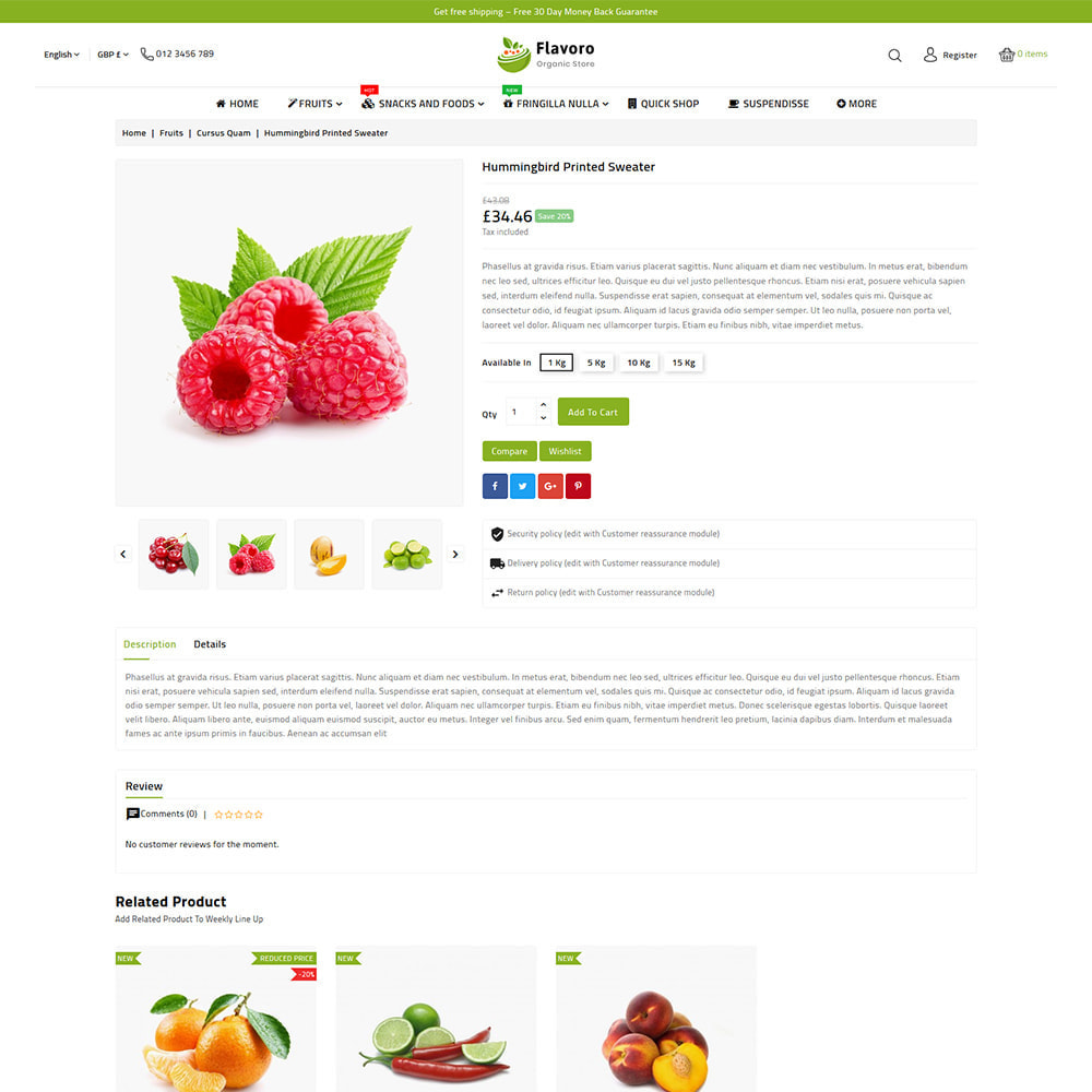 theme - Food & Restaurant - Flavoro - Fresh Organic Food Delivery Store - 8