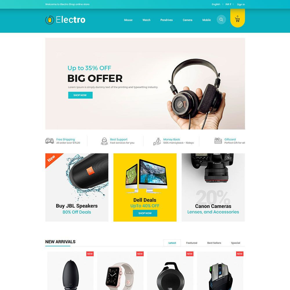 theme - Electronics & Computers - Electro Electronics - Mobile Computer Drone  Store - 1