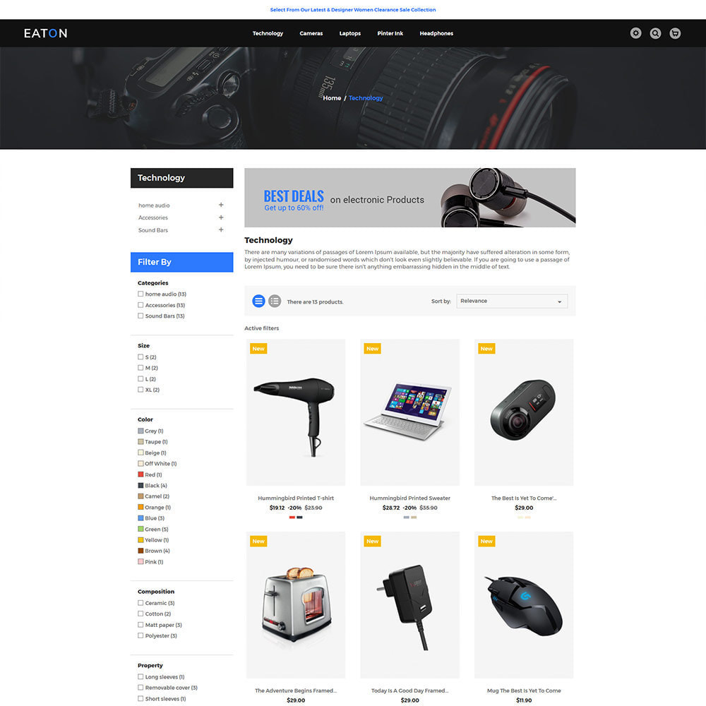theme - Electronics & Computers - Eaton Electronics Mobile - Computer Digital Drone Store - 3
