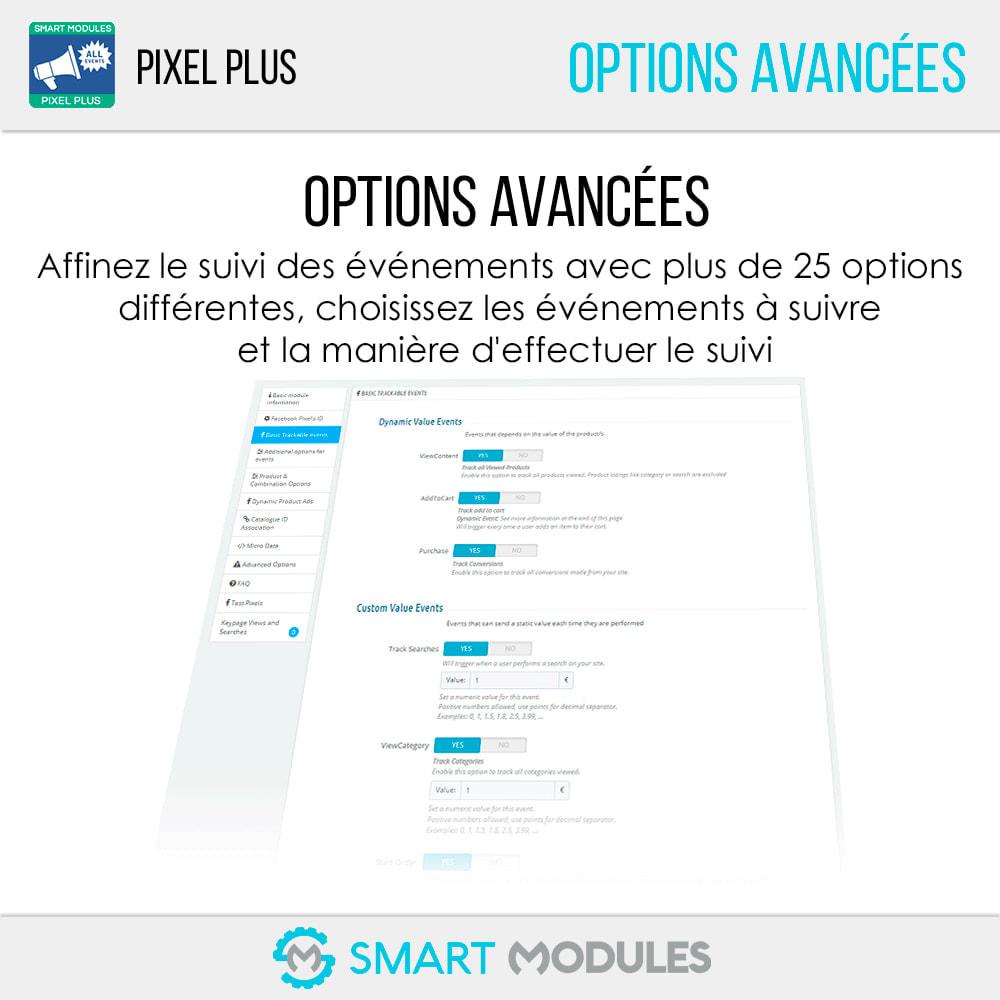 module - Analyses & Statistiques - Pixel Plus : Événements + API + Catalogue Pixel - 7
