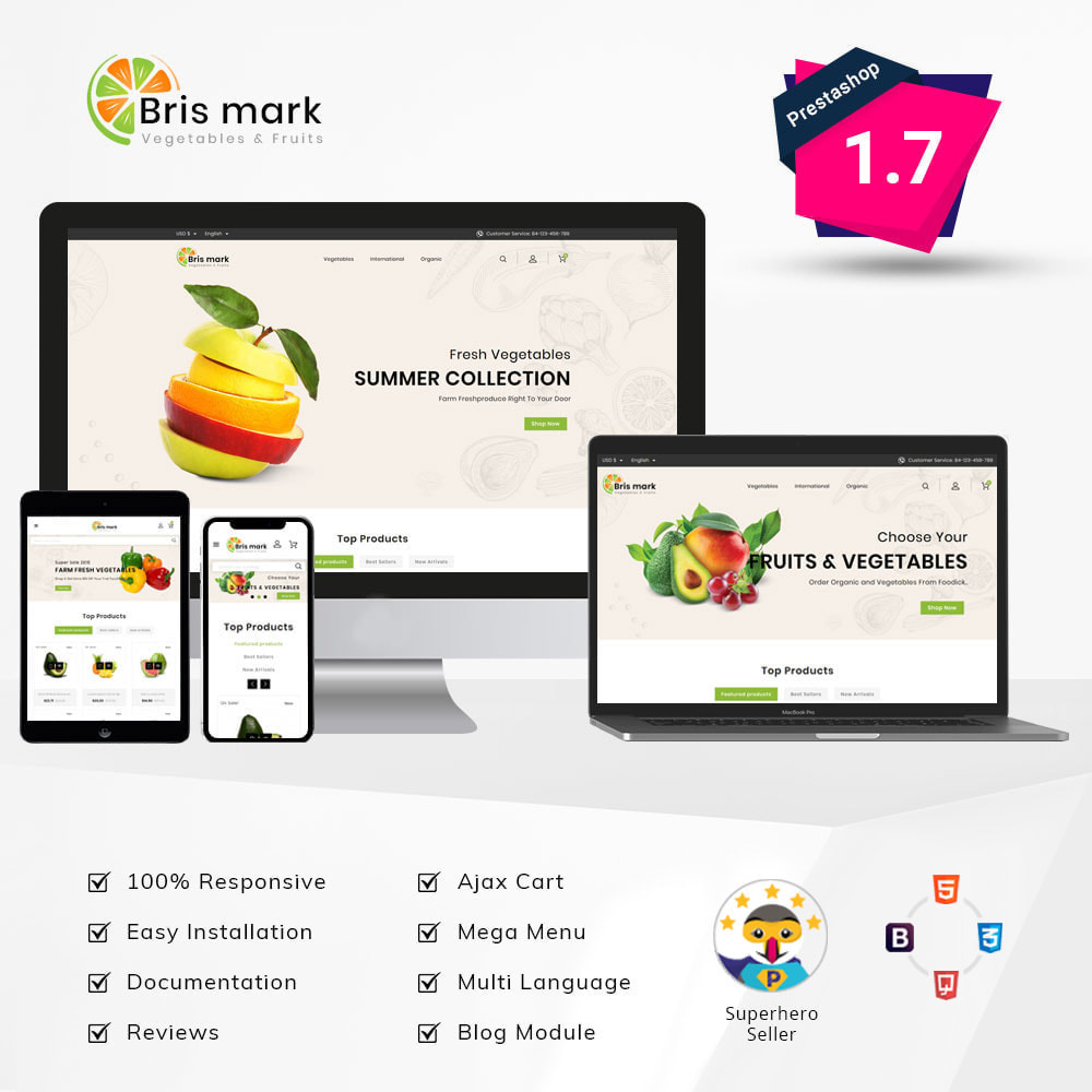 theme - Lebensmittel & Restaurants - Brismark - Vegetabels Store - 1
