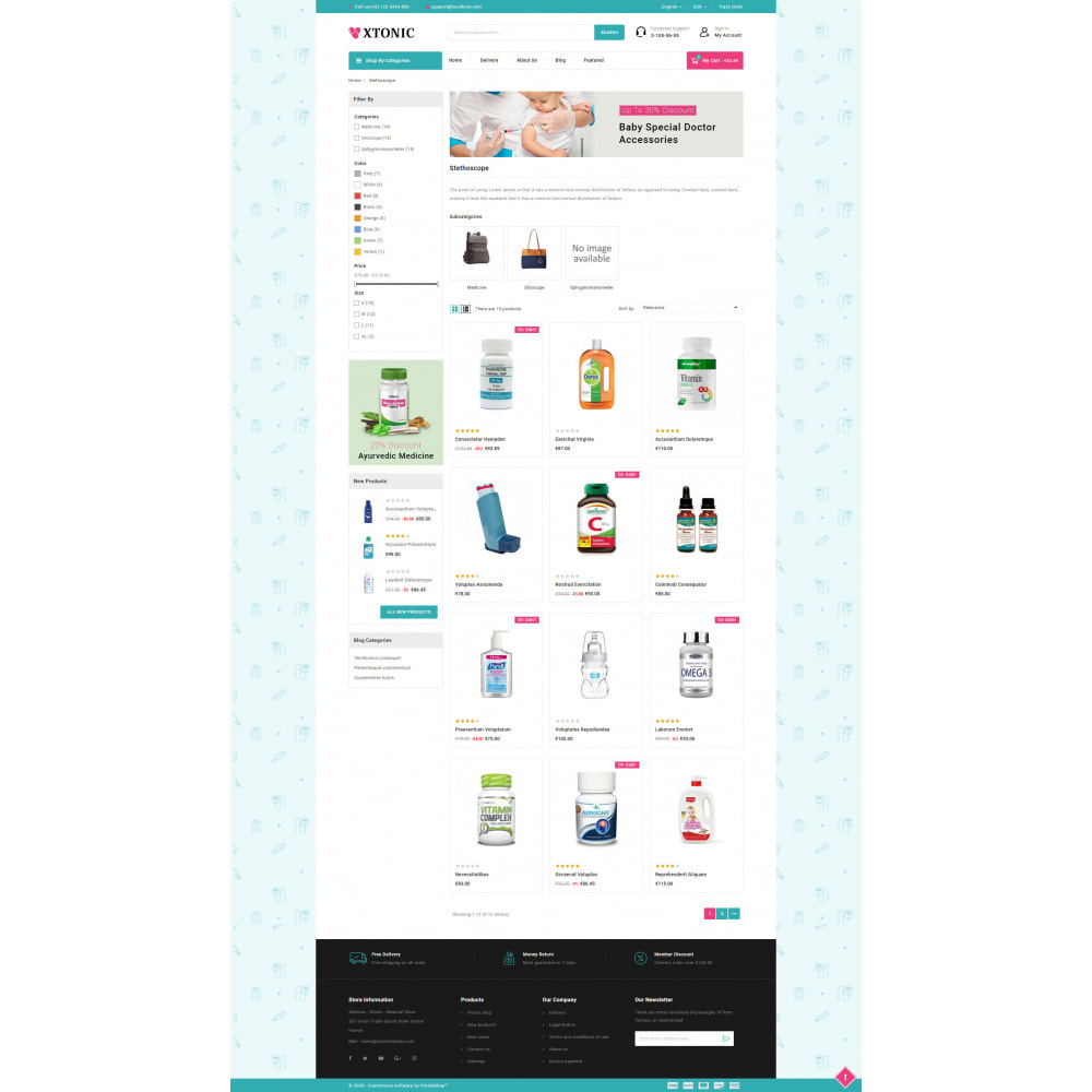 theme - Health & Beauty - Xtonic - Medicine Store - 3