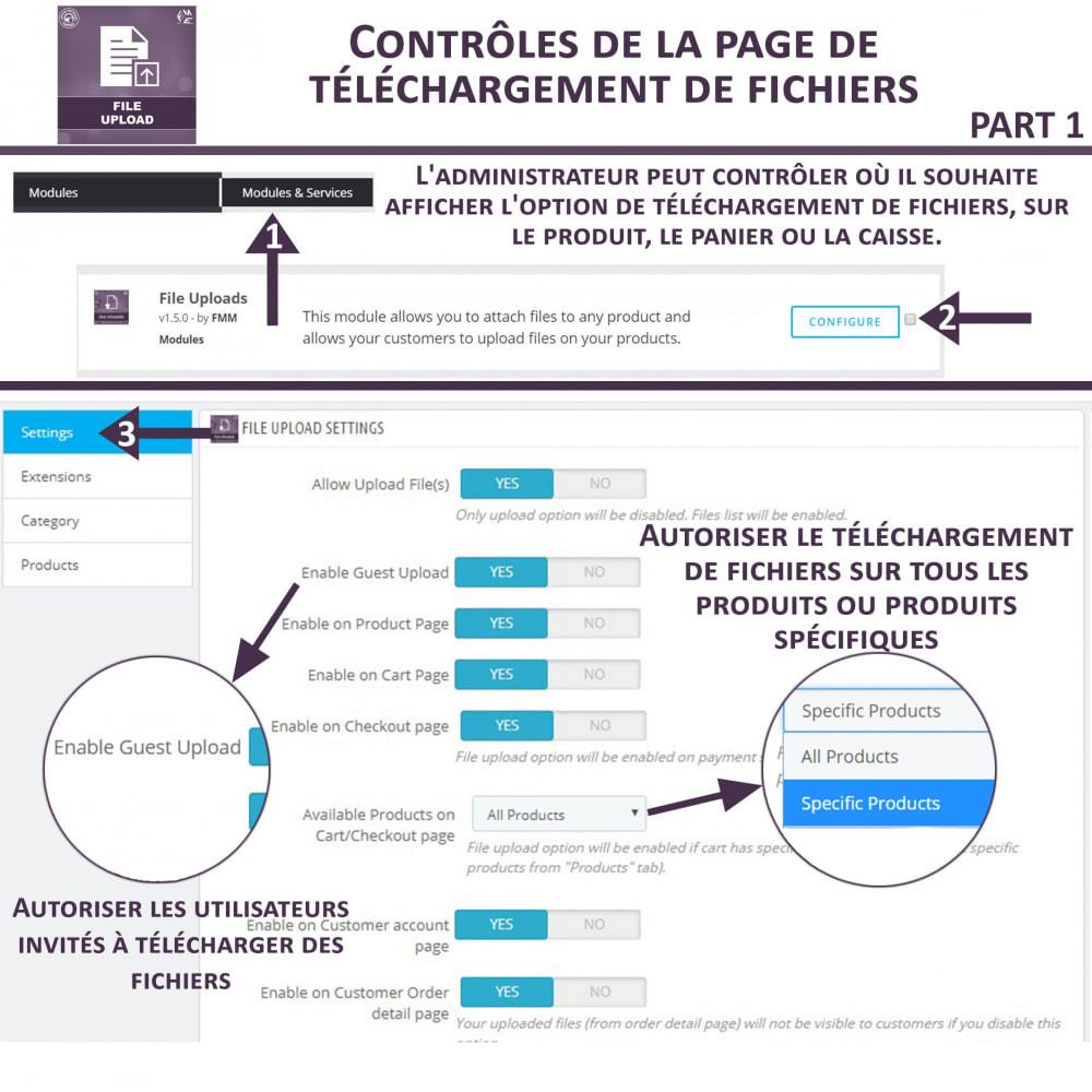 module - Information supplémentaire & Onglet produit - Téléchargement de fichiers par le client - 8