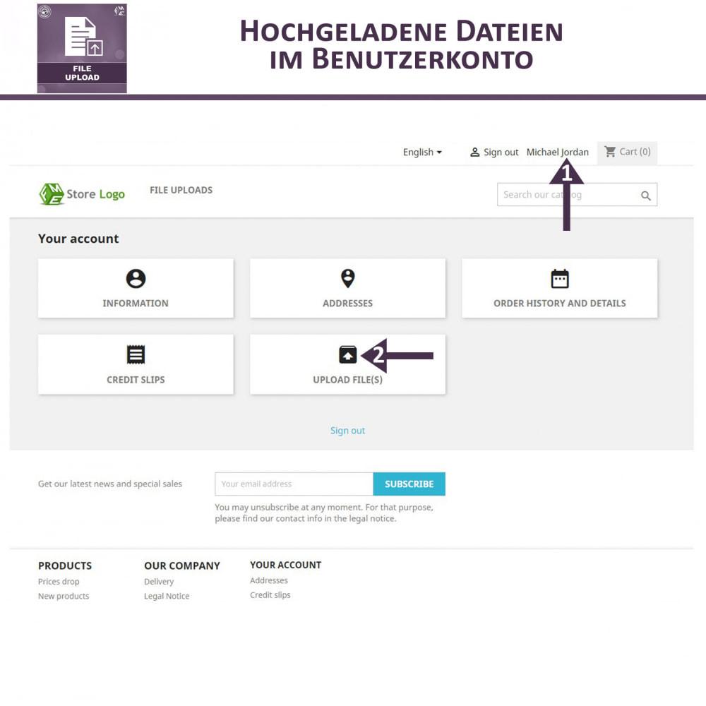 module - Zusatzinformationen & Produkt-Tabs - Datei-Upload durch den Kunden - 6