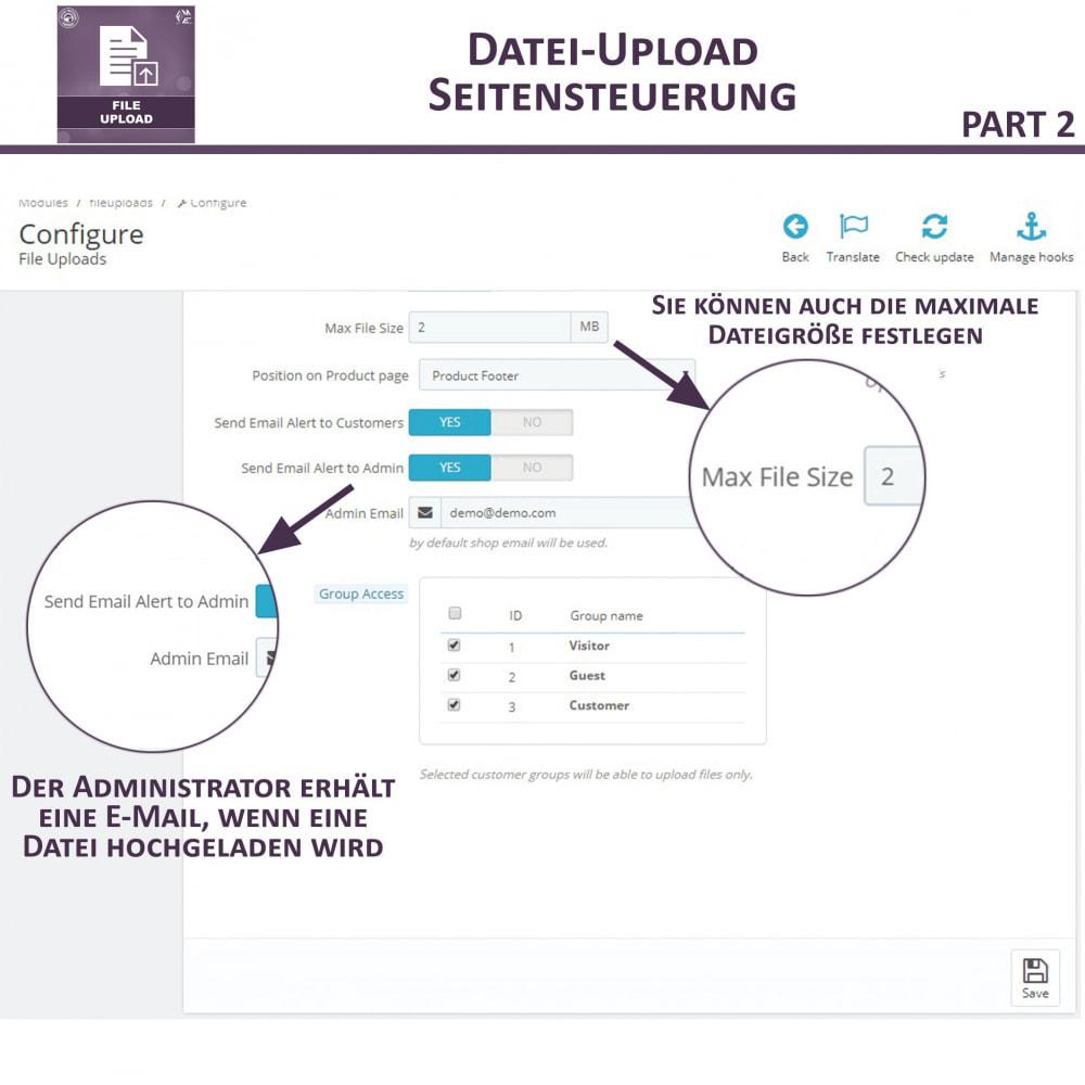 module - Zusatzinformationen & Produkt-Tabs - Datei-Upload durch den Kunden - 9