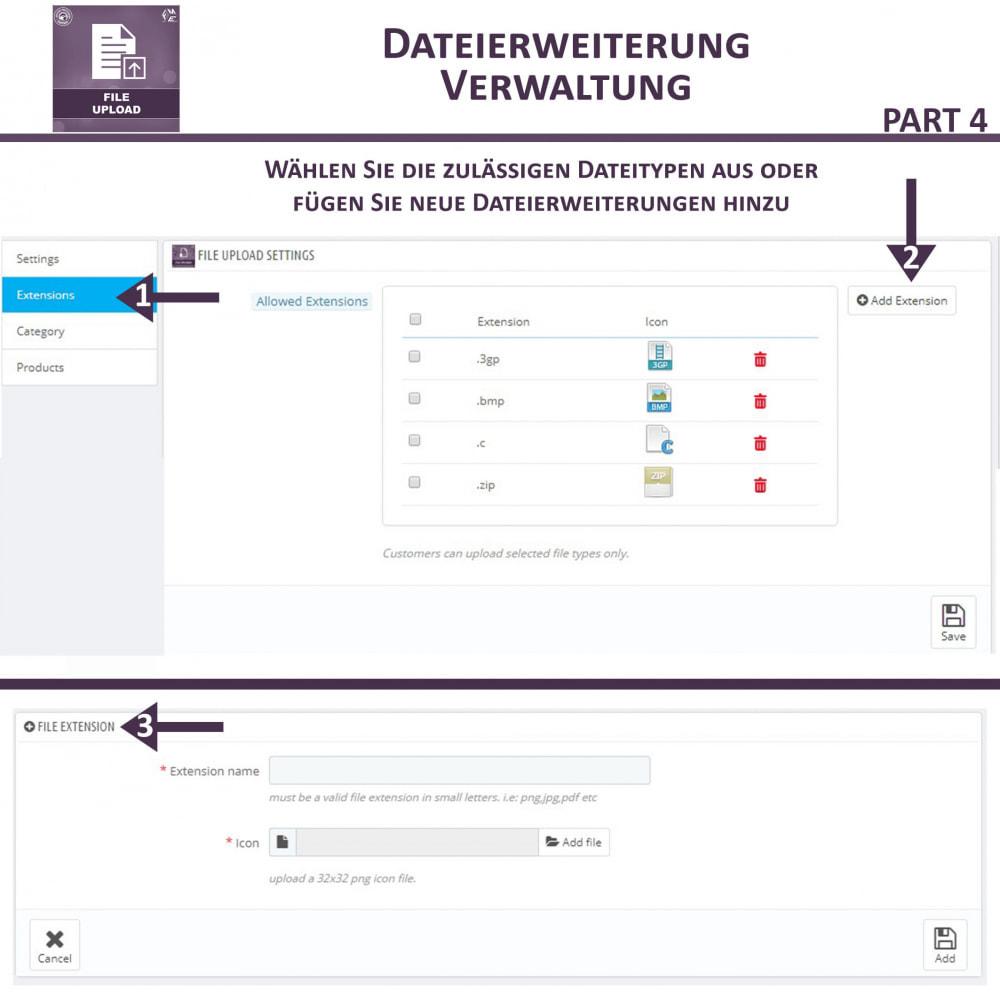 module - Zusatzinformationen & Produkt-Tabs - Datei-Upload durch den Kunden - 11