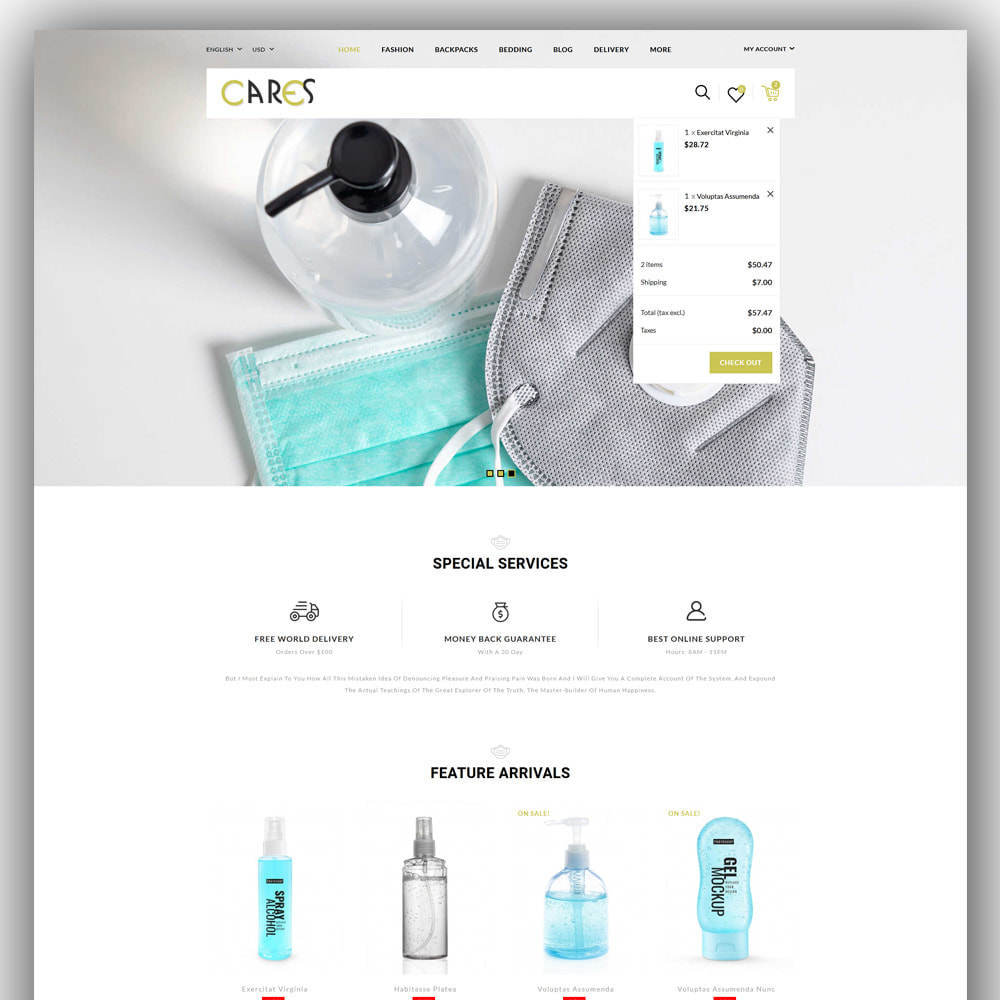theme - Health & Beauty - Cares - Sanitizer Store - 3