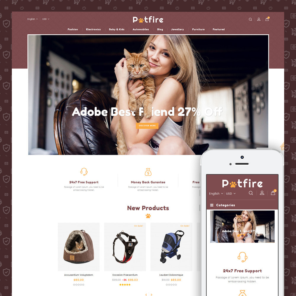 theme - Animais - Petfire - Animals Store - 1