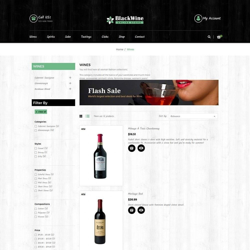 theme - Boissons & Tabac - Black Alcohol Drink - Wine Store - 4