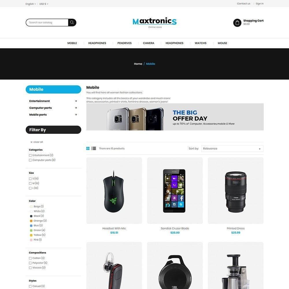 theme - Elettronica & High Tech - Maxtronics Mobile - Digital Electronics Store - 3