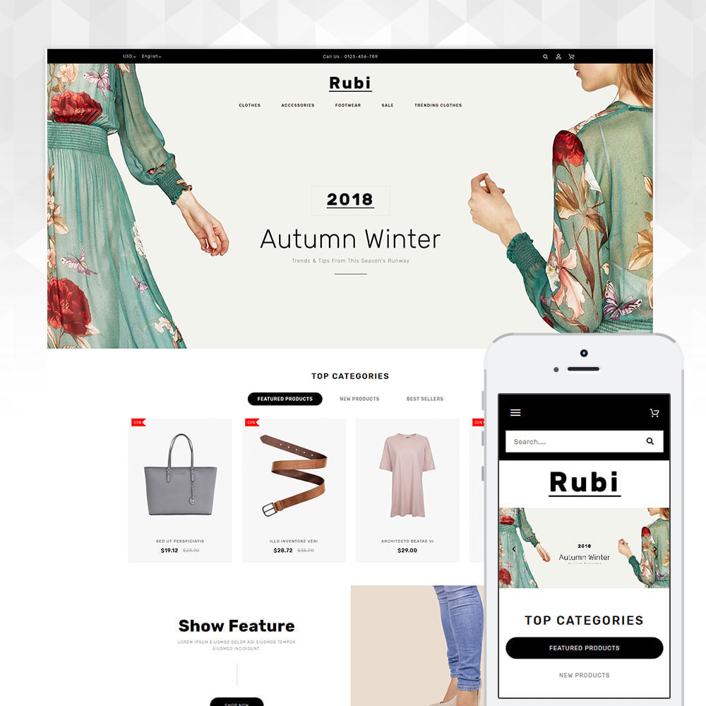 theme - Mode & Schoenen - Rubi - Apparel Store - 1