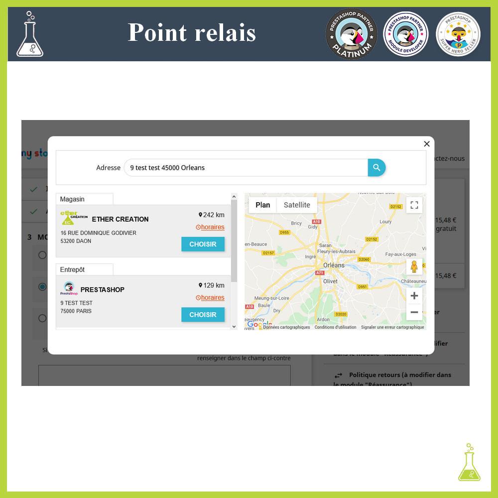 module - Point Relais & Retrait en Magasin - Gérer vos points relais - 3