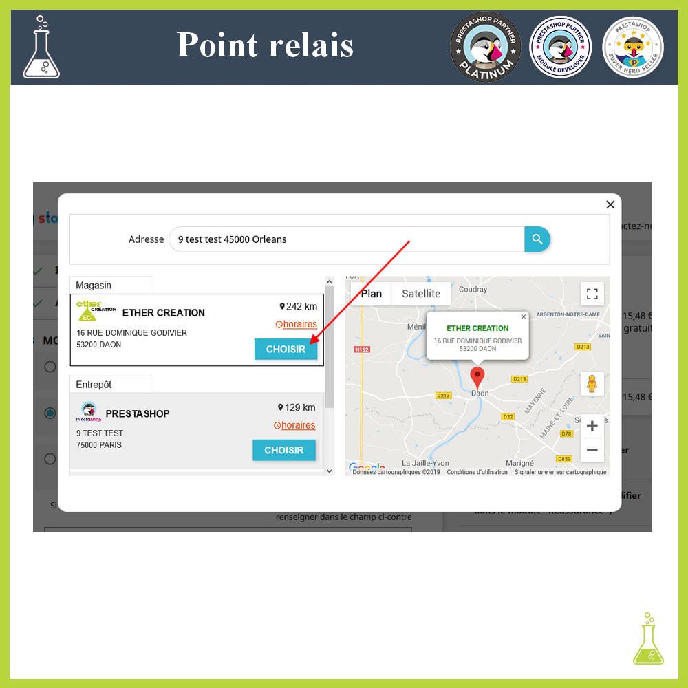 module - Point Relais & Retrait en Magasin - Gérer vos points relais - 5