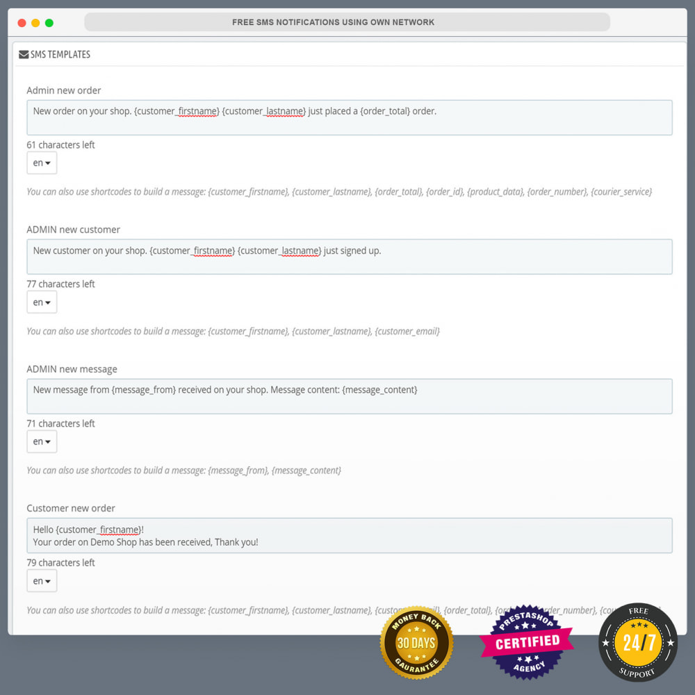 module - Newsletter y SMS - Notificaciones de SMS gratuitas usando una red propia - 5
