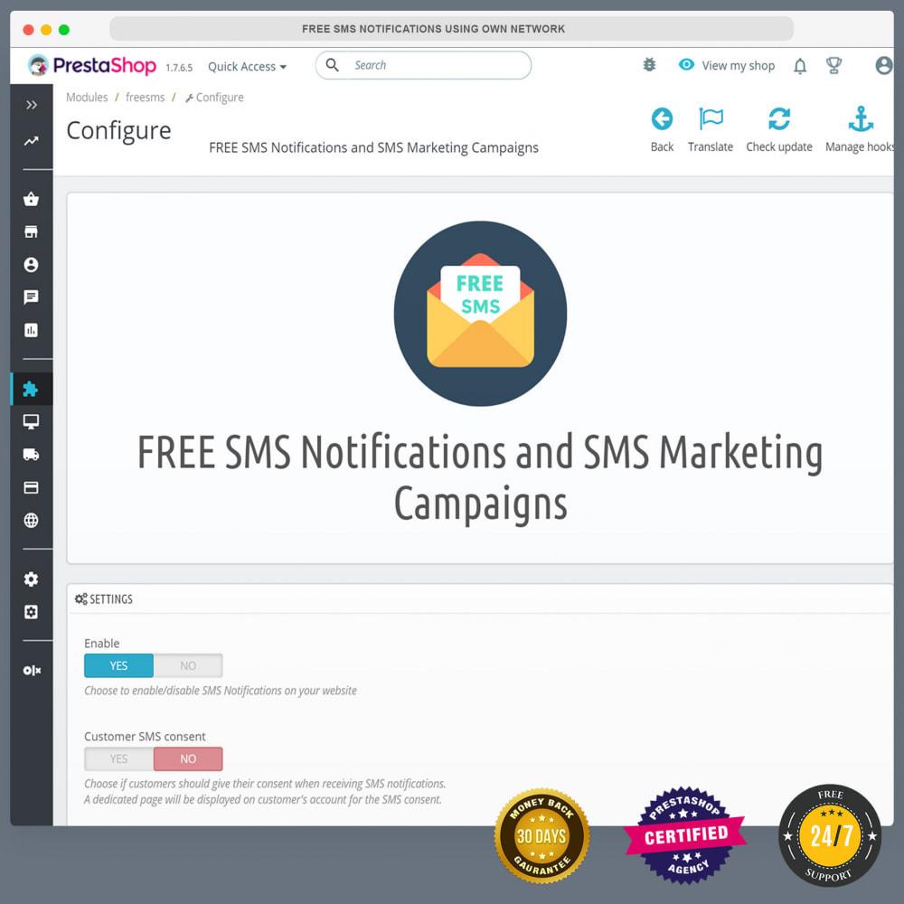 module - Newsletter & SMS - Kostenlose SMS-Benachrichtigungen mit eigenem Netzwerk - 3