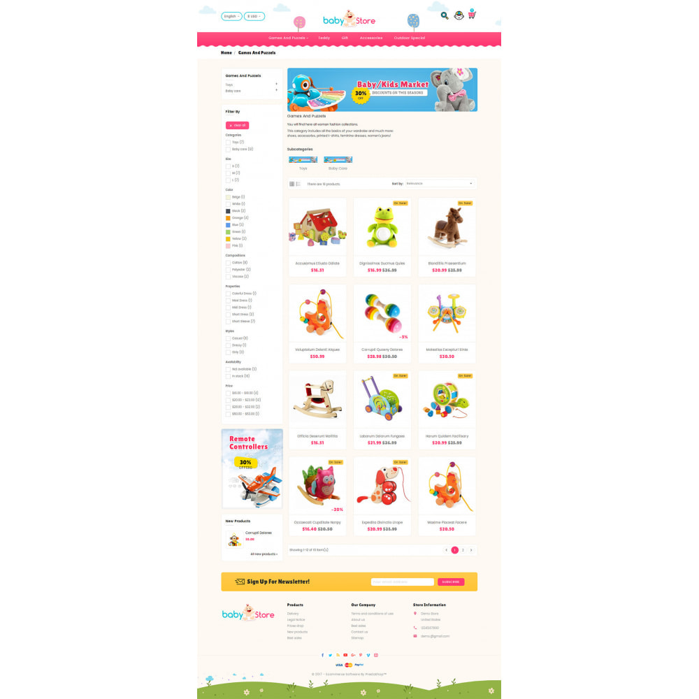 theme - Kids & Toys - Baby Toy Store - 3