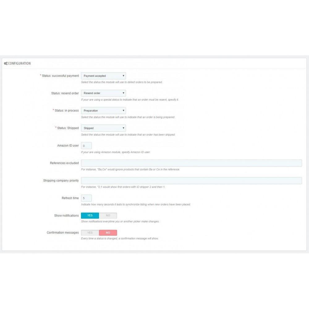 module - Preparación y Envíos - Listado de pedidos pendientes a preparar (Picking list) - 8