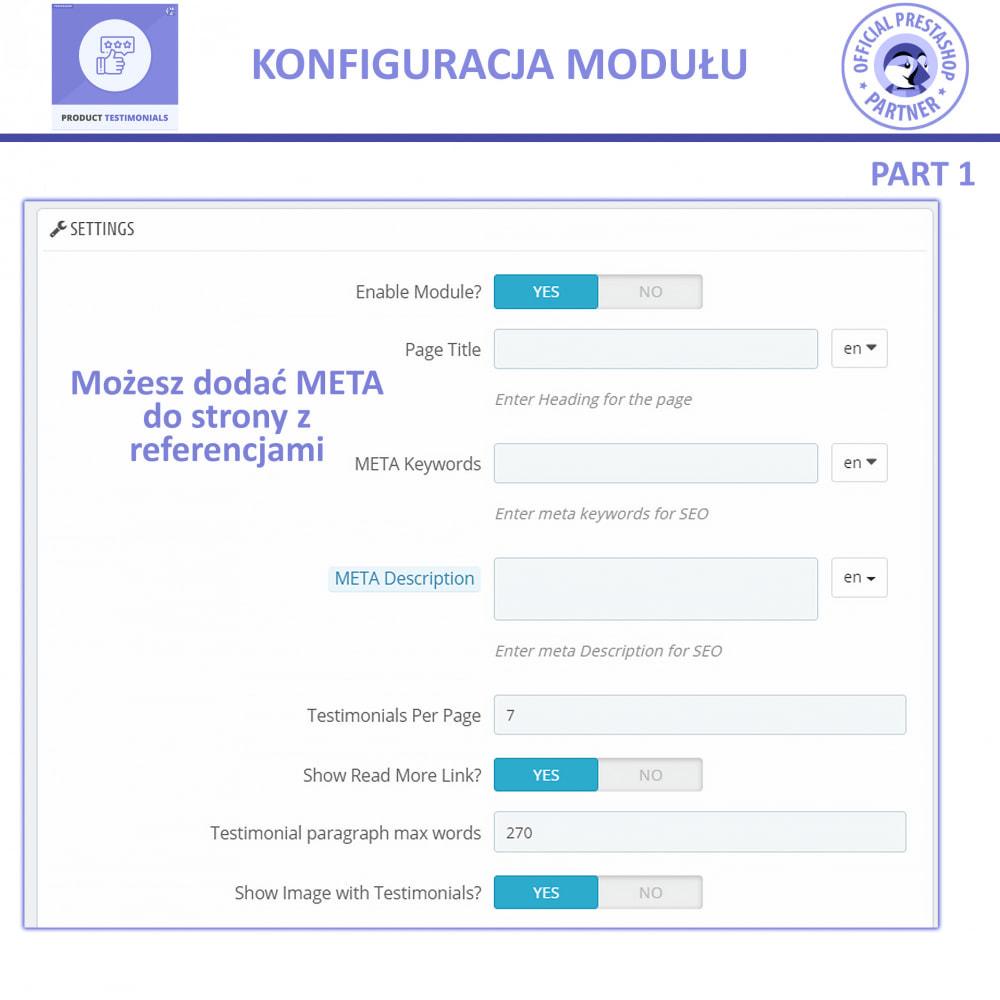 module - Opinie klientów - Recenzje Klientów + Referencje Sklepu - 8