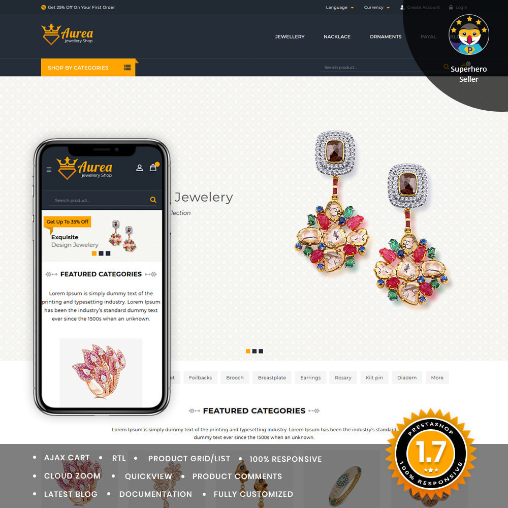 theme - Jewelry & Accessories - Aure Jewelry & Accessories Shop - 1