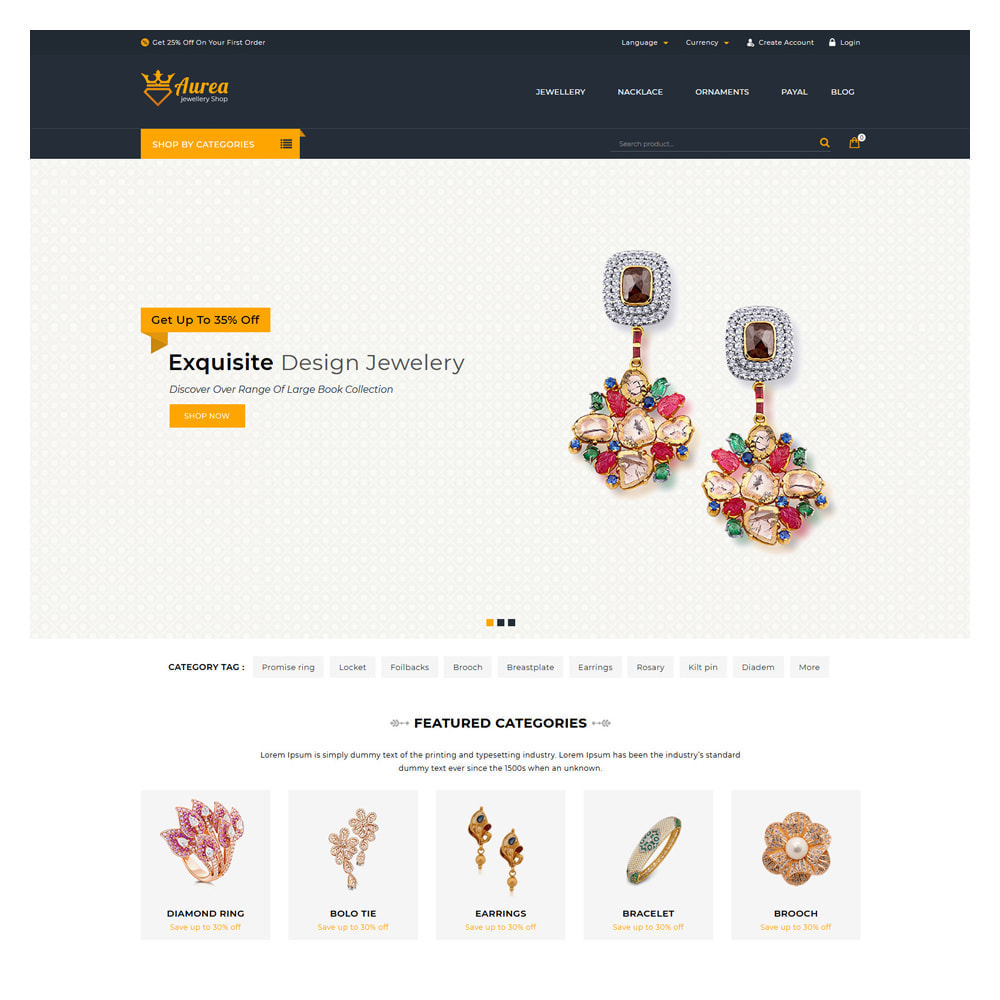 theme - Jewelry & Accessories - Aure Jewelry & Accessories Shop - 2