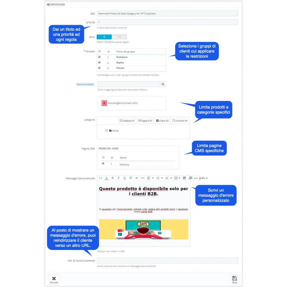 module - Gestione clienti - Prodotti Privati E Categoria Per Gruppi Clienti - 2
