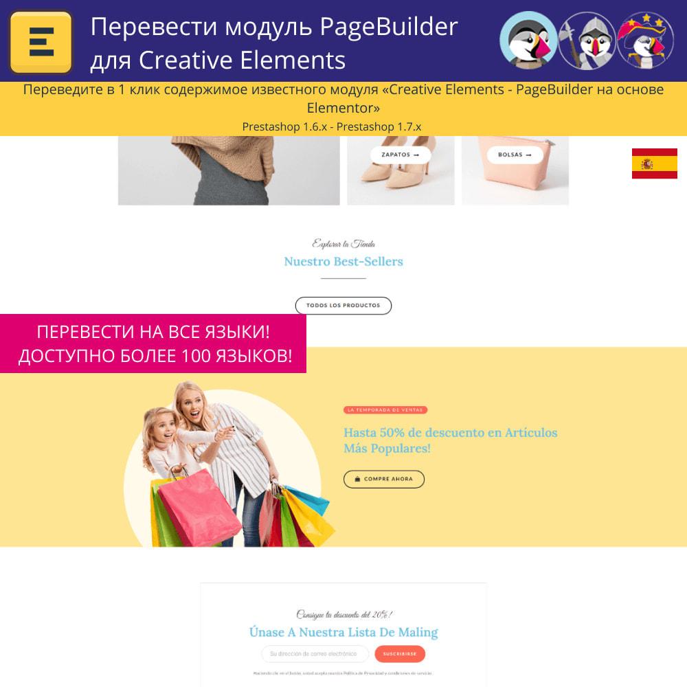 module - Международный рынок и геолокация - Translate The Creative Elements PageBuilder - 4
