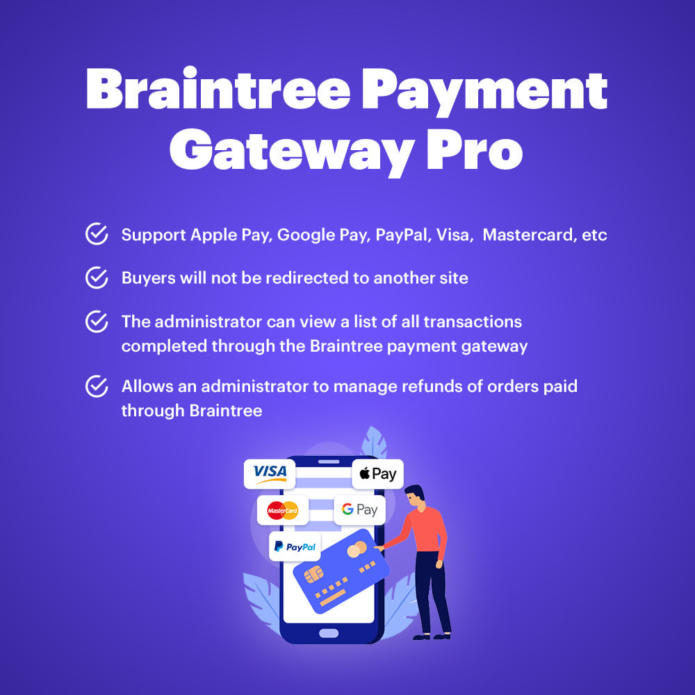 module - Payment by Card or Wallet - BrainTree Payment Gateway PRO (support v. 1.6) - 1