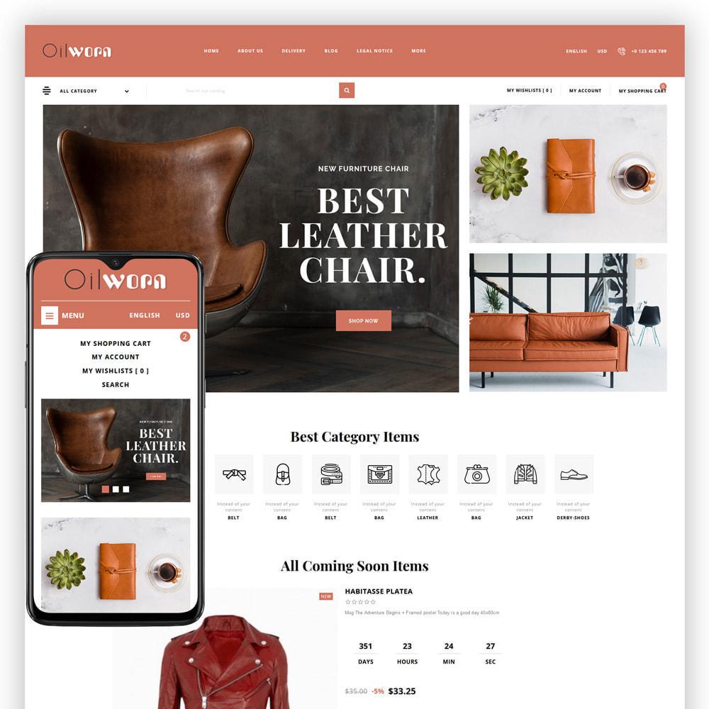 theme - Мода и обувь - Oilworn - Leather Store - 1