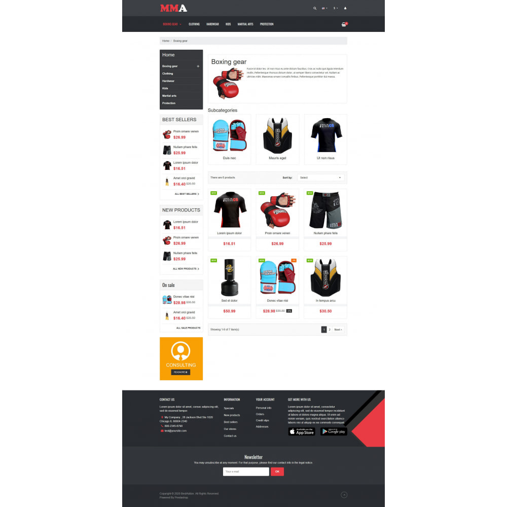 theme - Sports, Activities & Travel - VP_MMA - Page Builder - 3