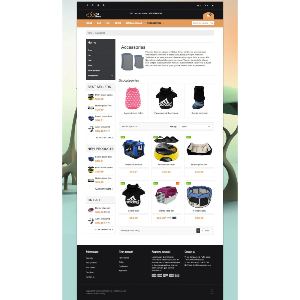 theme - Animais - VP_PetTown - Page Builder - 3
